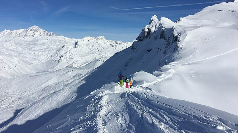 Great Off piste in Sainte Foy